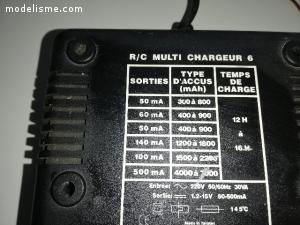 chargeur  pour batteries modelisme