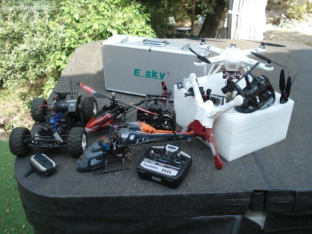 DRONE, HELICOPTERE, VOITURE 4x4