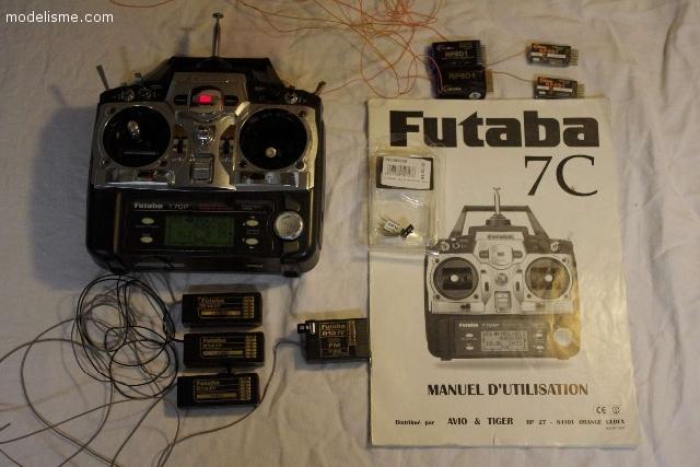 Futaba T7CP 41Mhz + 8 recepteurs