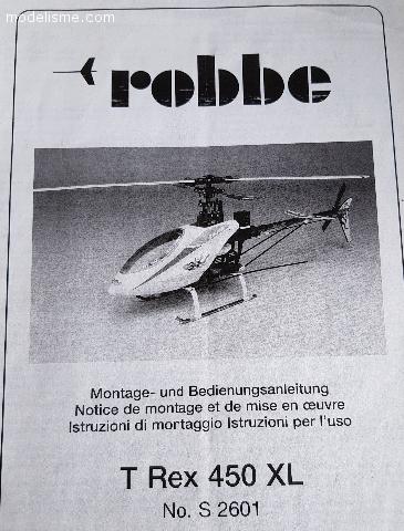 Hélicoptère T Rex 450 XL