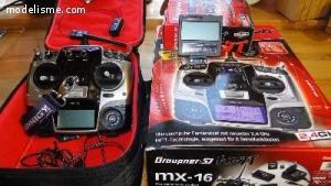 [Vds] Radio Graupner Mx16 Hott + acc  ...