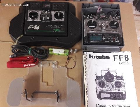 Vend ensemble radio Futaba FF8 super + F16