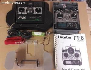 Vend ensemble radio Futaba FF8 super + F16